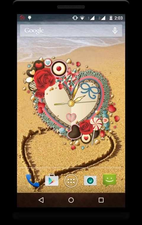 Heart Clock Live Wallpaper screenshot 4