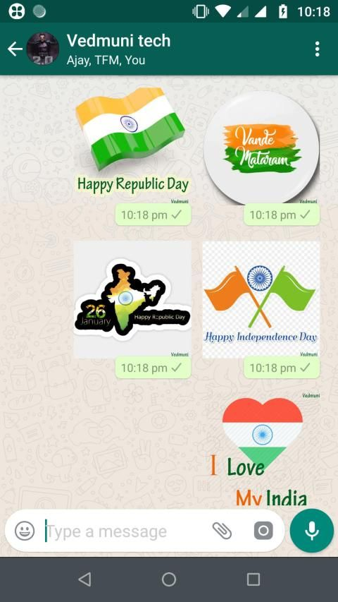 Republic Day Stickers for Whatsapp (WAStickerApps) screenshot 6