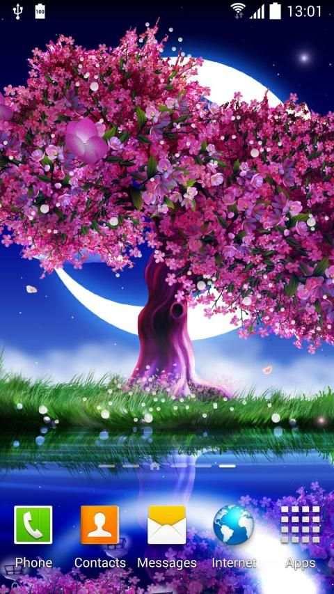 Cherry Blossom Live Wallpaper 7 تصوير الشاشة