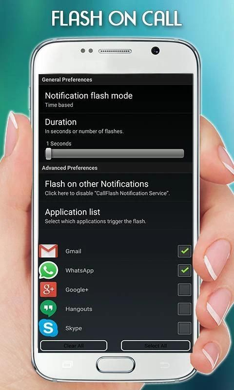 FlashLight on Call – Automatic Flash Light Blink screenshot 1