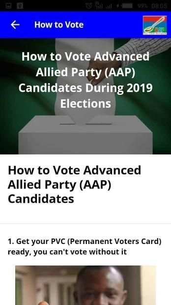 Advanced Allied Party Candidates 2019 Elections screenshot 1