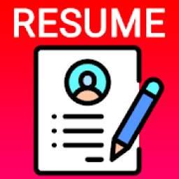 Resume Builder CV maker App Free CV templates 2019