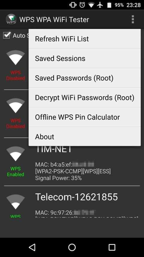 WPS WPA WiFi Tester (No Root) 1 تصوير الشاشة