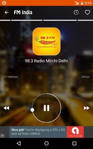 FM Radio India - Live Stations 8 تصوير الشاشة
