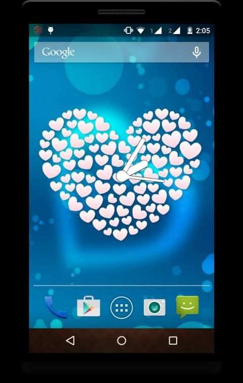 Heart Clock Live Wallpaper screenshot 2