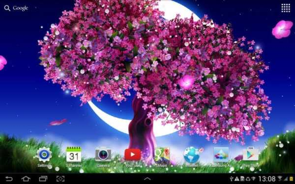 Cherry Blossom Live Wallpaper 4 تصوير الشاشة