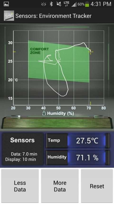 Sensors: Temp and Humidity स्क्रीनशॉट 3