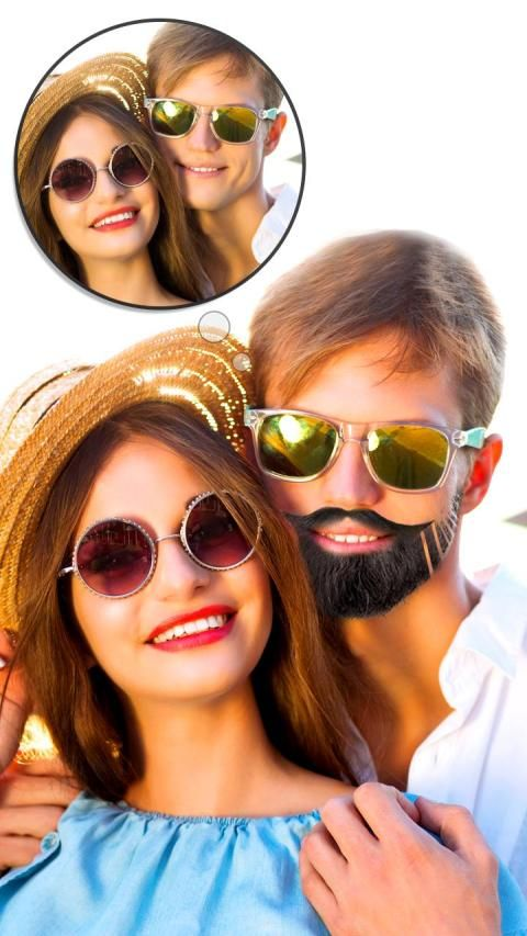 Man Mustache Beard Changer 3 تصوير الشاشة