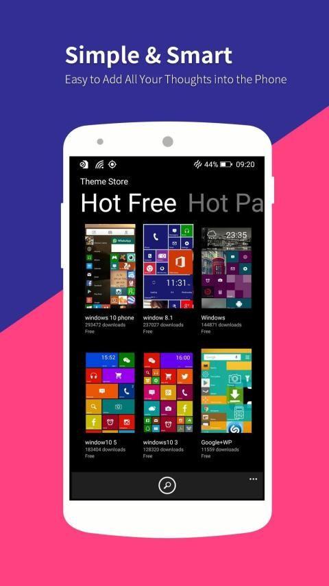 WP Launcher (Windows Phone Style) 8 تصوير الشاشة