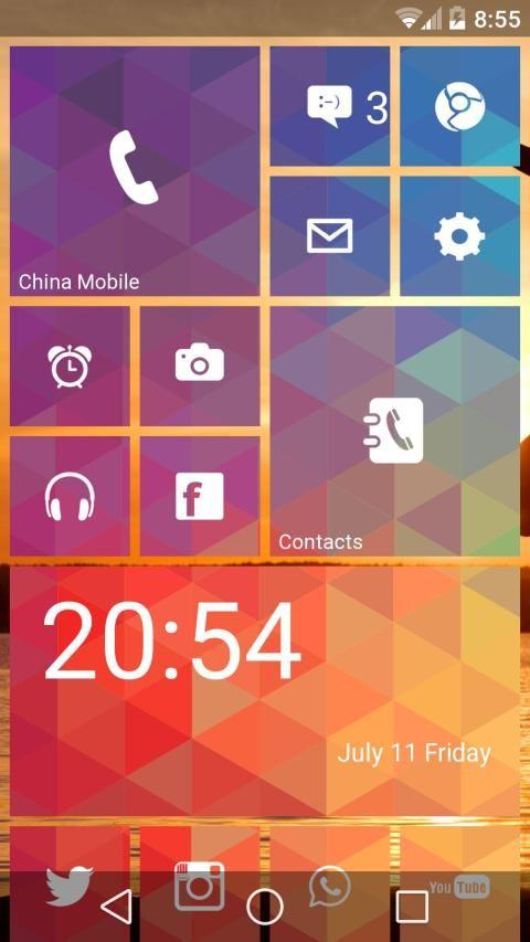 WP Launcher (Windows Phone Style) 6 تصوير الشاشة