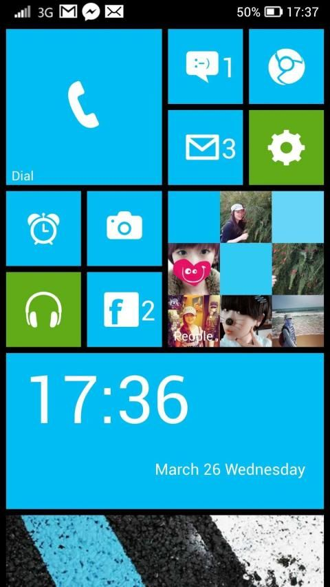 WP Launcher (Windows Phone Style) 1 تصوير الشاشة