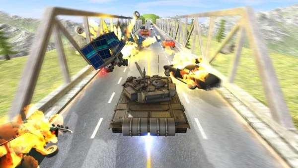 Tank Traffic Racer 2 screenshot 1