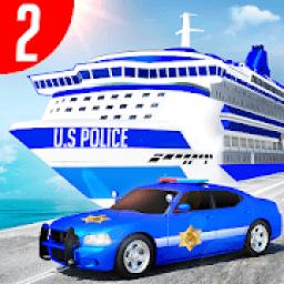 Us Police Car Transporter Truck Driving Simulator आइकन