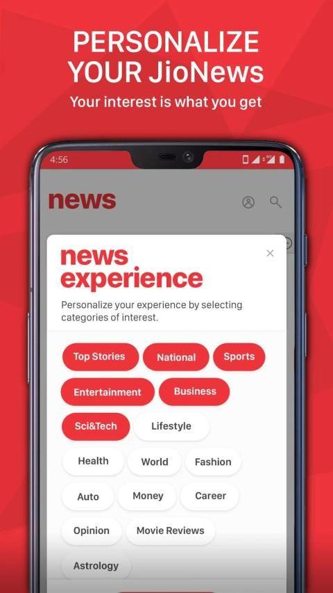JioNews – Live TV, Cricket, Magazines, Newspapers screenshot 1