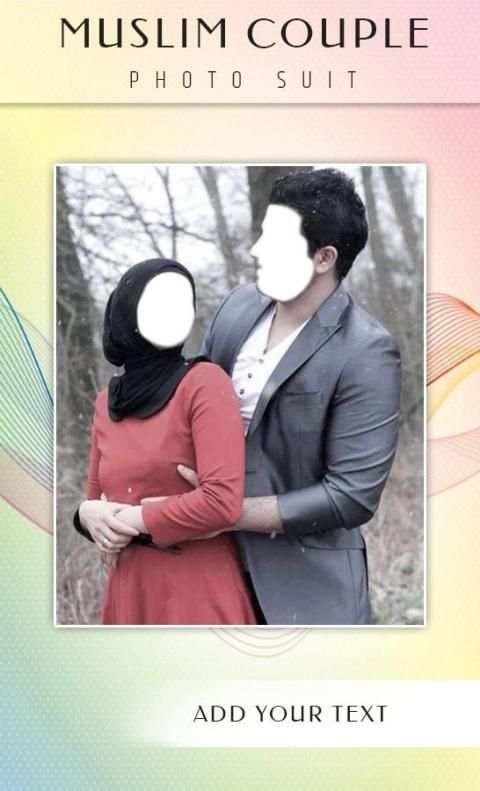 Muslim Couple Photo Suit 2 تصوير الشاشة