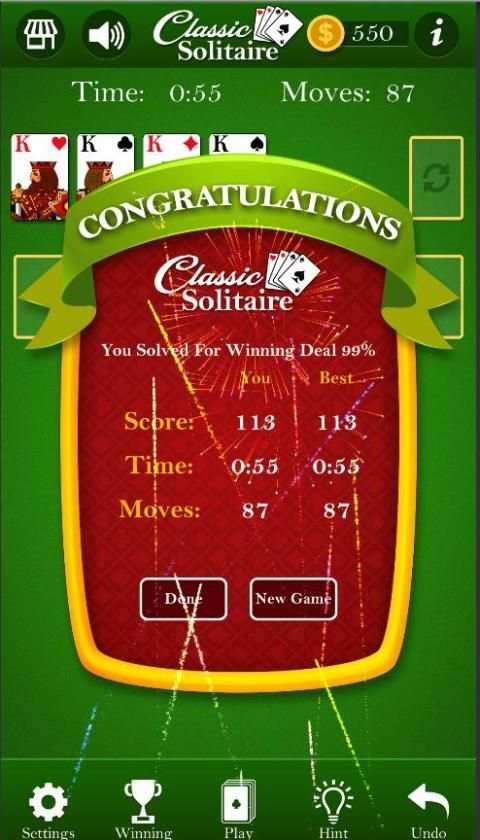 Classic Solitaire - Without Ads screenshot 3