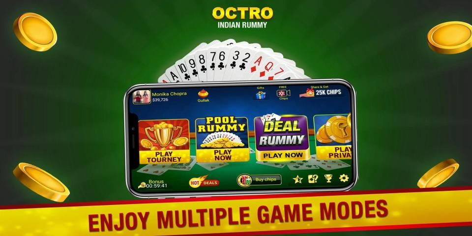 Indian Rummy (13 & 21 Cards) by Octro स्क्रीनशॉट 14