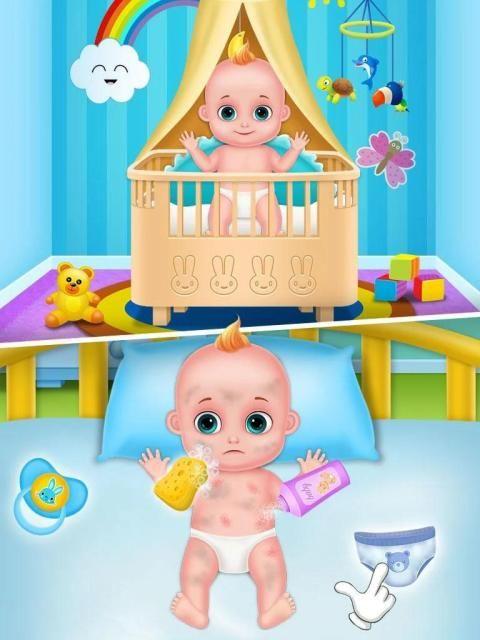 Mommy & newborn baby shower - Babysitter Game स्क्रीनशॉट 1