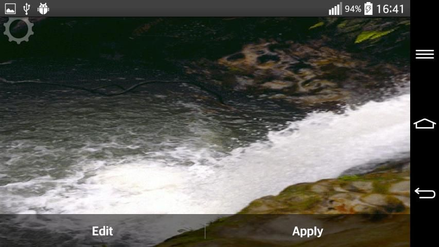 Waterfall Sound Live Wallpaper 3 تصوير الشاشة