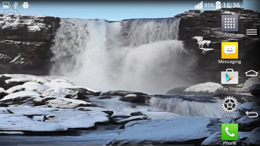 Waterfall Sound Live Wallpaper 2 تصوير الشاشة