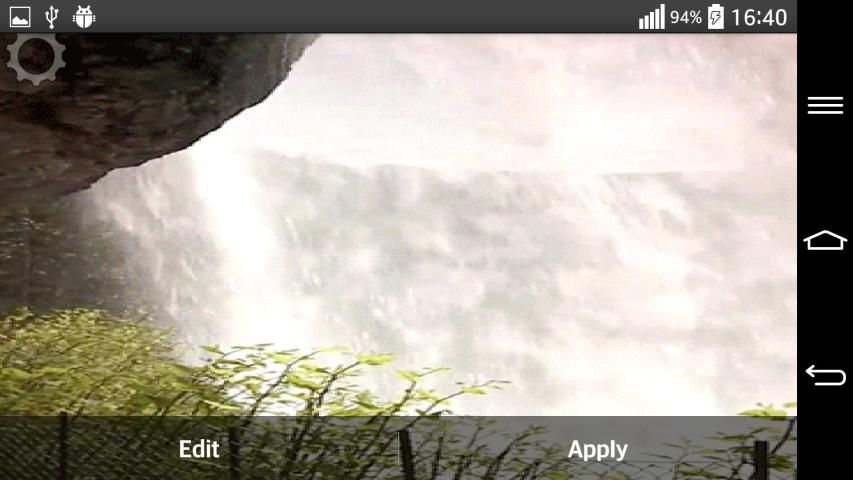 Waterfall Sound Live Wallpaper 1 تصوير الشاشة