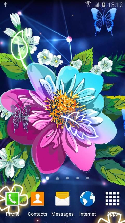 Abstract Flower Live Wallpaper скриншот 7