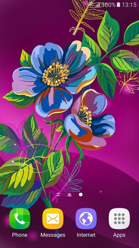 Abstract Flower Live Wallpaper скриншот 6