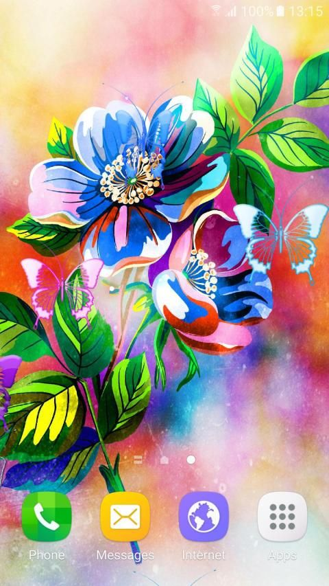 Abstract Flower Live Wallpaper скриншот 5