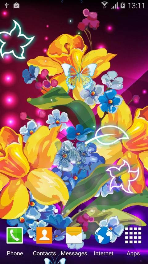 Abstract Flower Live Wallpaper скриншот 9