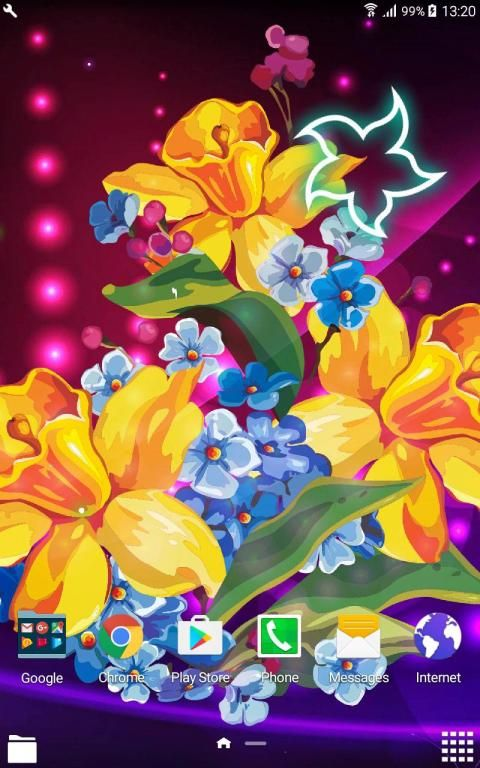 Abstract Flower Live Wallpaper скриншот 2