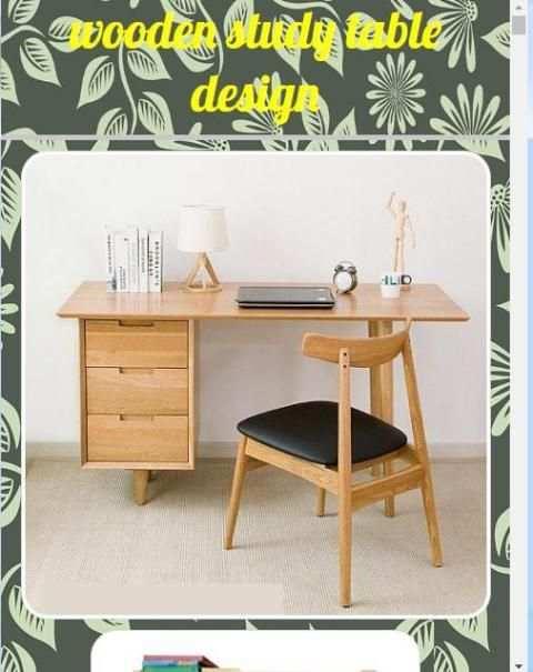 Wooden study table design screenshot 1
