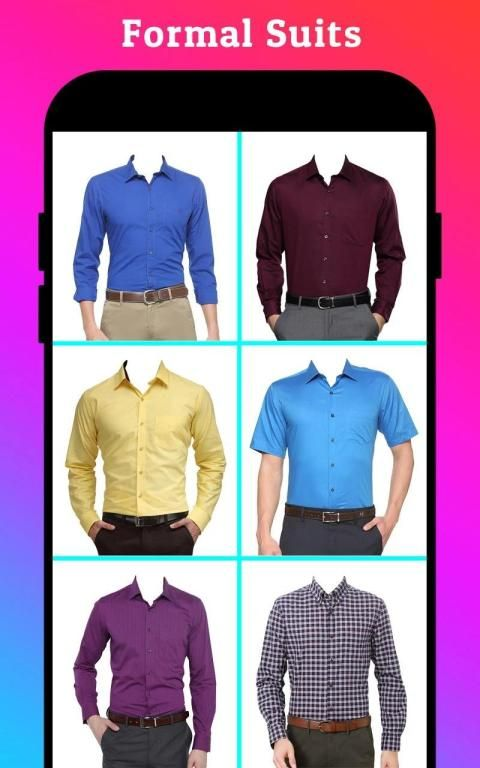 Men Formal Shirt Photo Editor स्क्रीनशॉट 14