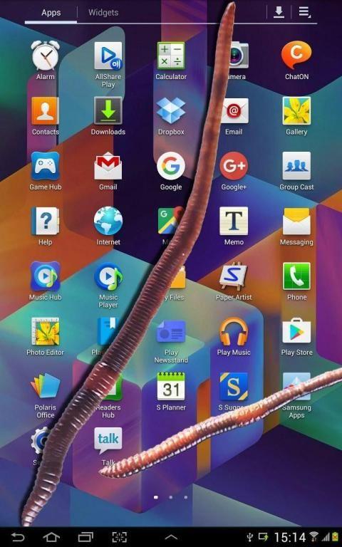 Earthworm in phone slimy joke 8 تصوير الشاشة