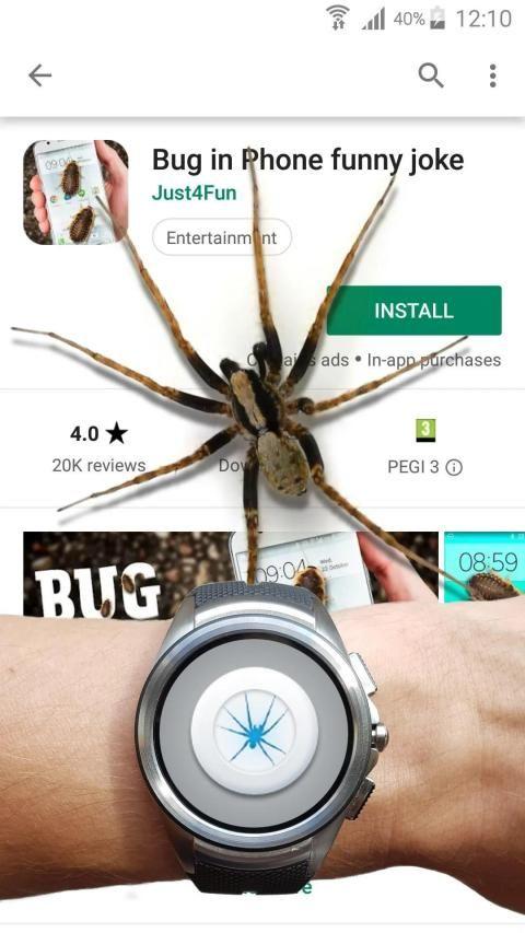 Spider in phone funny joke 2 تصوير الشاشة