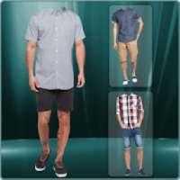 Men Short Shirt Photo Suit - man casual shirt on 9Apps