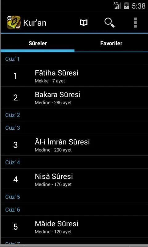 Kur'an-ı Kerim Meal Dinle screenshot 3