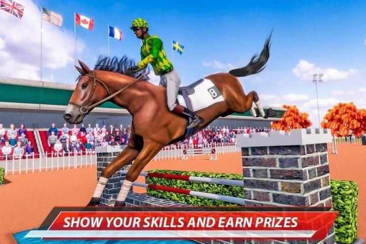 Horse Racing & Stunts Show: Derby Racer 3 تصوير الشاشة