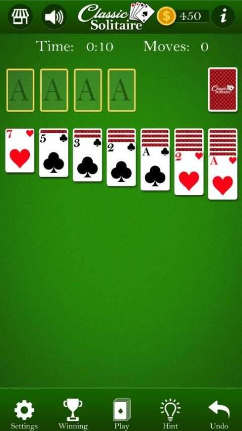 Classic Solitaire - Without Ads screenshot 1