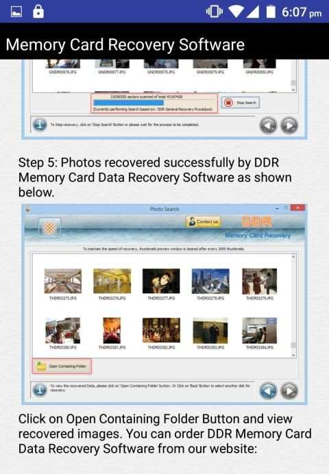 Memory Card Recovery Software Help 15 تصوير الشاشة