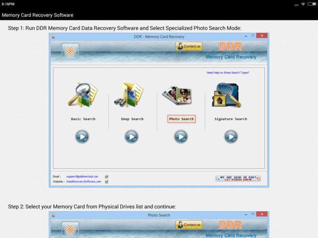Memory Card Recovery Software Help screenshot 7