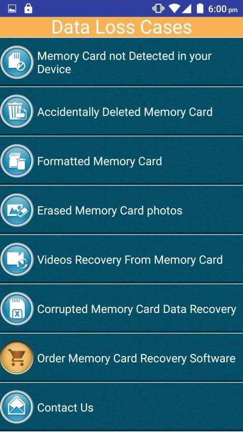 Memory Card Recovery Software Help screenshot 1