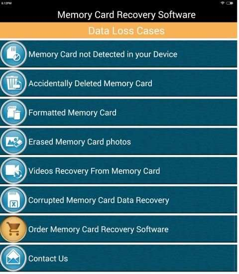 Memory Card Recovery Software Help स्क्रीनशॉट 1