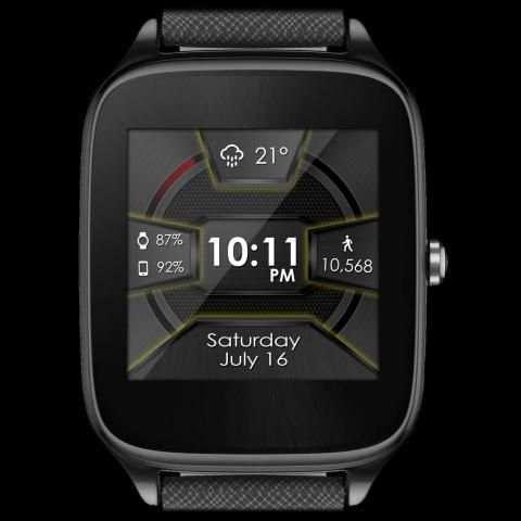 Daring Carbon HD WatchFace Widget Live Wallpaper 7 تصوير الشاشة
