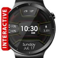 Daring Carbon HD WatchFace Widget Live Wallpaper أيقونة