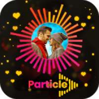 Particle Video Status Maker - Wave Music Effect icon