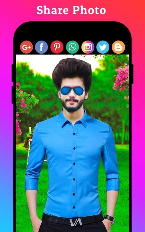 Men Formal Shirt Photo Editor स्क्रीनशॉट 8
