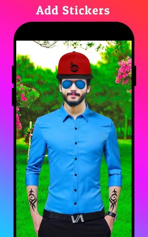 Men Formal Shirt Photo Editor स्क्रीनशॉट 26
