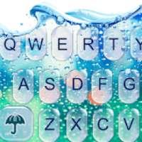 Kaca air Tema Keyboard on 9Apps