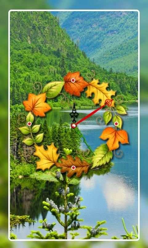 Nature Clock Live wallpaper 4 تصوير الشاشة