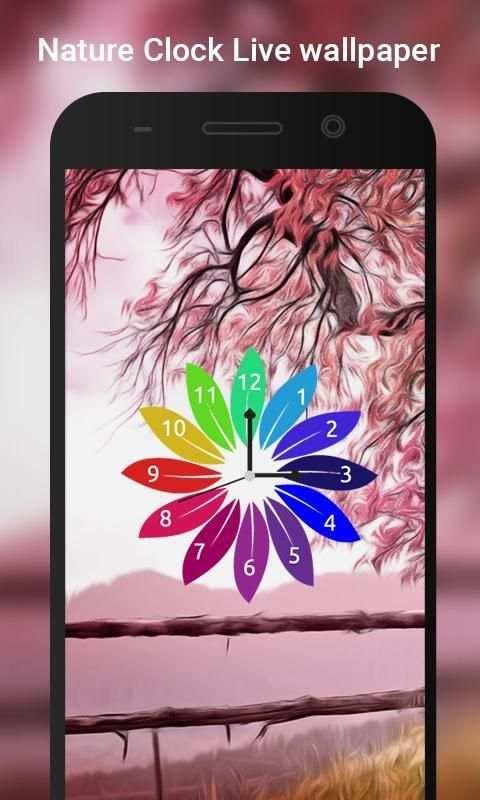 Nature Clock Live wallpaper 3 تصوير الشاشة